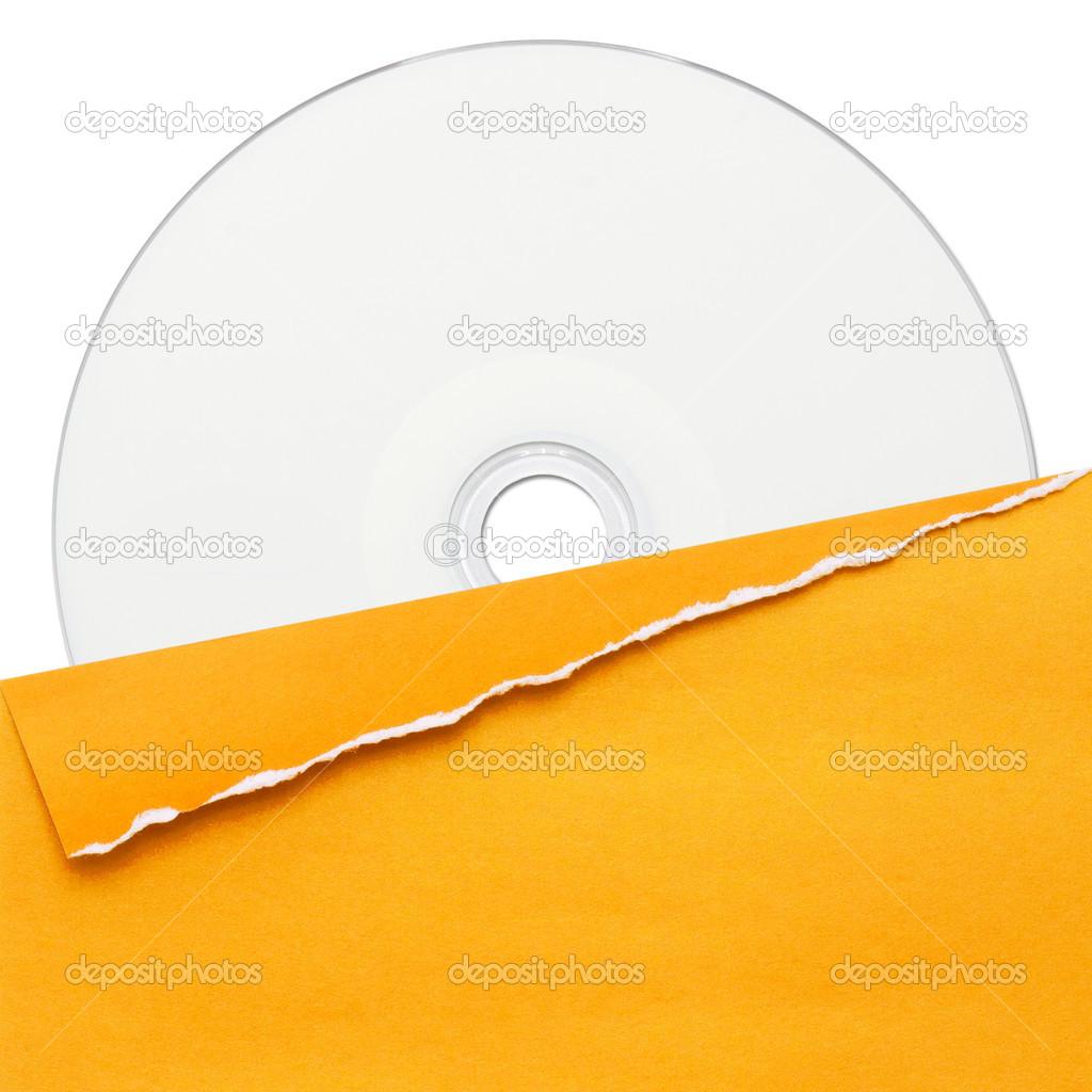 空白光盘与黄色封面