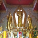 Golden standing Buddha statue — Stock Photo #13584541
