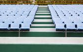 Empty blue stadium seats — Стоковое фото