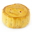 Moon cake on white background — Stock Photo