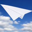 Origami planes in blue sky — Stock Photo