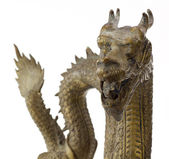 Dragon sculpture isolated on white — Stock Photo