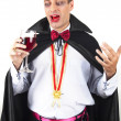 Stock Photo: Portrait of handsome young min suit of Count Dracula