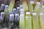 Bottles of Fruit Juices — Stock Photo