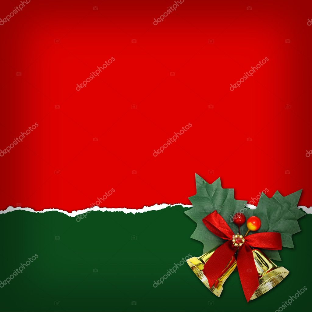 Christmas background with Christmas bells  — Stock Photo #14614283