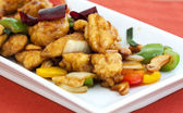 Thai food,stir fired chicken with cashew nuts — Stock Photo