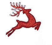 Red raindeer on white background — Stock Photo