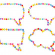 Speech bubble decorate by colorful beads on white background — Stok fotoğraf