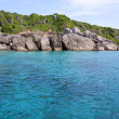 Sea and rocky coast at similan island thailand — Stock fotografie