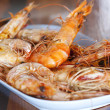 Fired shrimp  on plate — Stock Photo
