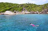 Sea and rocky coast at similan island thailand — Stock Photo