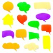 A set of colorful paper speech bubbles — Stock Photo