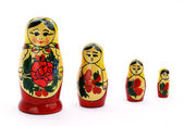 Matrioshka doll isolated on white — Stock Photo