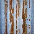 Old zinc sheet with beautiful rust — Stock Photo