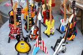 Collection of electric guitars — Stock Photo