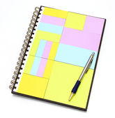Notepad in note book with pen — Stock Photo