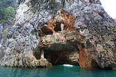 Texture of limestone mountain at Khaosok National Park, Thailan — Stock Photo