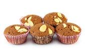 Brownie dort na bílém pozadí — Stock fotografie