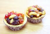świeże owoce ciasto tarta — Zdjęcie stockowe