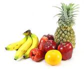 Veel van exotische vruchten — Stockfoto