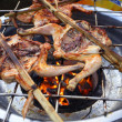 Grilling chicken — Stock fotografie