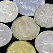 Old coins of different nationalities, from different periods — Stock Photo