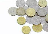 Gamla mynt av olika nationaliteter, från olika perioder. — Stockfoto