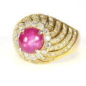 Rubínový prsten — Stock fotografie