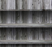 Empty wood shelf grunge interior background for display object — 图库照片