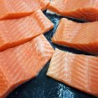 Fresh salmon fillets — Stock Photo #36511921