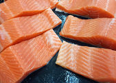 Fresh salmon fillets — Foto Stock