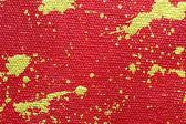 Las salpicaduras de oro resumen fondo rojo — Foto de Stock