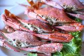 Thailändska skaldjur, kokt krabba — Stockfoto