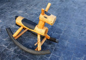 Wooden rocking horse — Stock Photo
