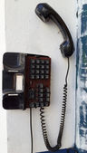 Old traditional telephone on the wall  — Stock Photo