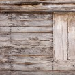Old wooden wall with window in thailand — Stock Photo #42372033