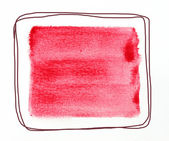 акварельный квадрат — Стоковое фото