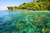Tropical beach, Andaman Sea koh Rok Thailand  — Stock Photo