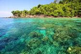 Tropical beach, Andaman Sea koh Rok Thailand — Stock Photo