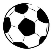 Hand drawn soccer ball — Stock Photo