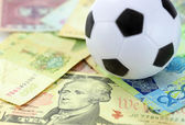 Football and money soccer betty concept — Stock Photo
