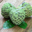 Custard apple fruit on the wood table. — Stock Photo