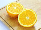 Ripe orange on white background  — Stockfoto