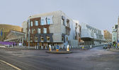 The building of Scottish Parliament in Edinburgh — Stock Photo