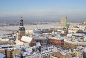 View of old roofs in Riga — Stock Photo