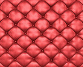 Luxury texture of red leather furniture with buttons — ストック写真
