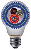Lamp and gear — Stockvektor