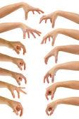 Greppa händer — Stockfoto