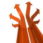 Постер, плакат: Arrows diverge