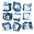 Ice cubes on white — Stock Photo